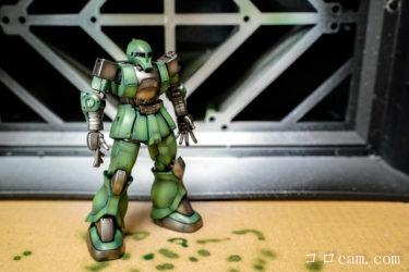 プラモの作り方 & 撮影の仕方 ガンプラ HG ジ・オリジン MS-05 ザクⅠ 制作編⑦ 全体塗装