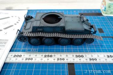 【プラモデル制作】タミヤ ドイツ軽戦車 38(t) E/F型 中編 グラデーション塗装~ドライブラシ、デカール貼り